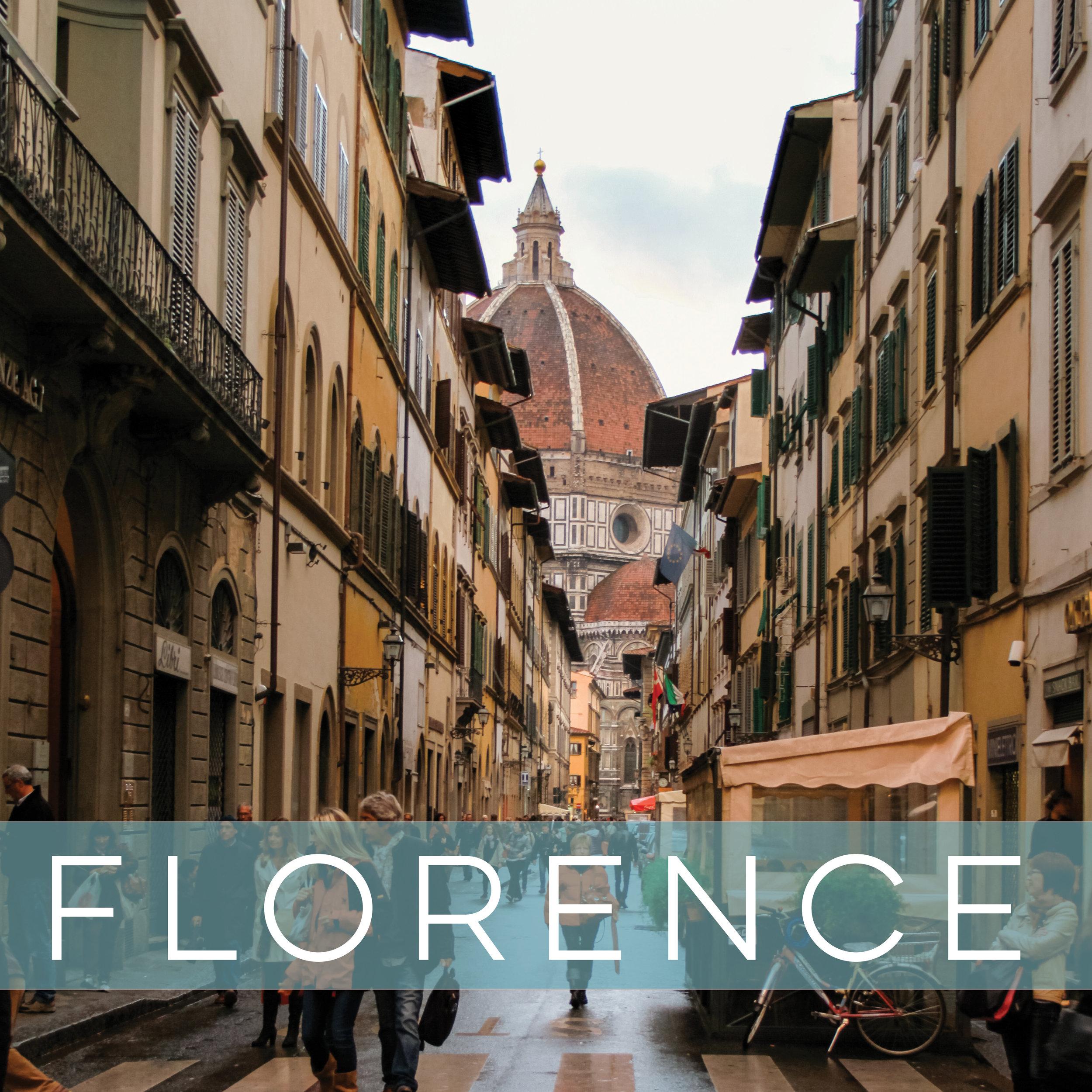 a guide to Firenze, Michelangelo's hometown