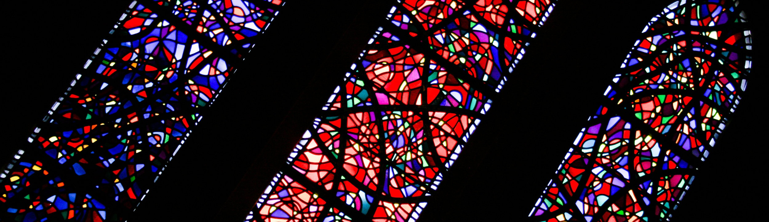 Stained glass windows at the National Cathedral