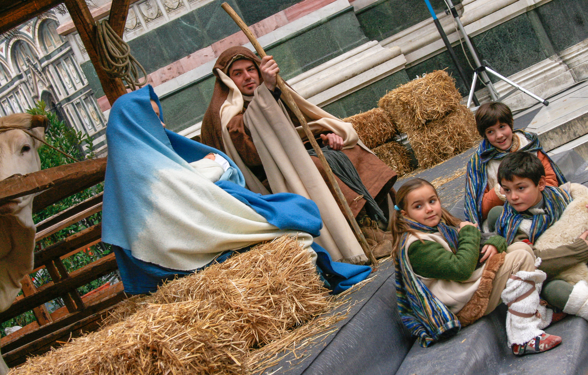 The live Nativity at the Duomo in Florence