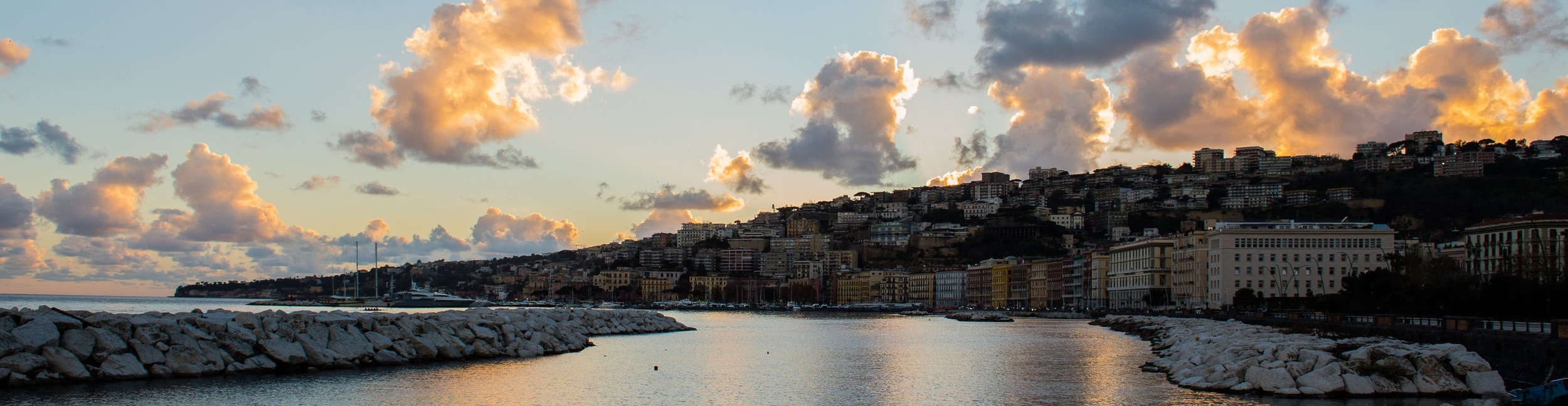 Naples at sunset