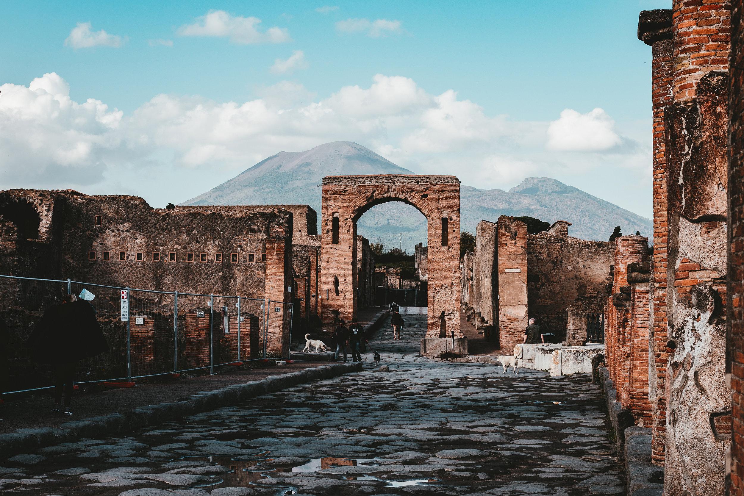 Pompeii, in the shadow of Mt. Vesuvius
