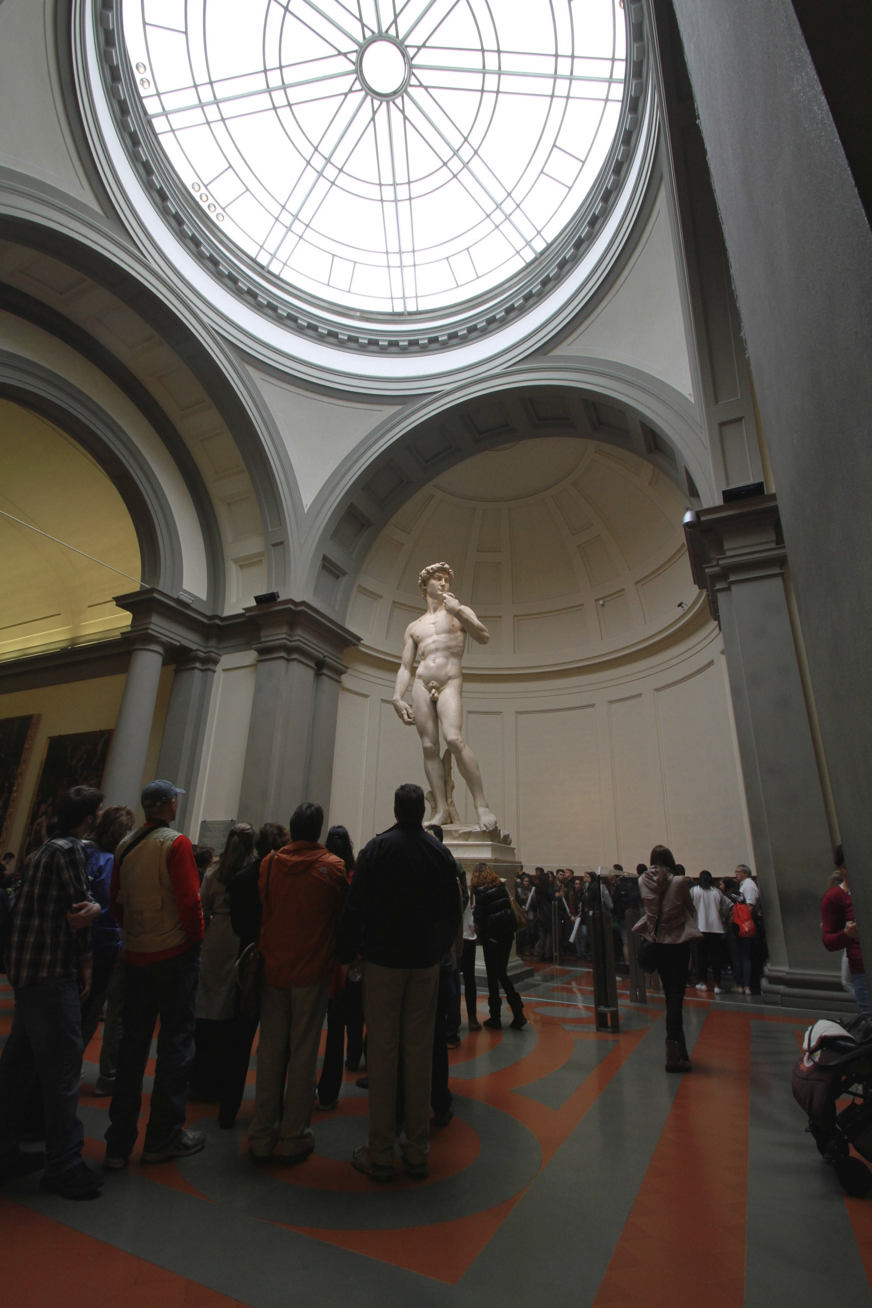 A hushed silence falls over visitors before Michelangelo's David.