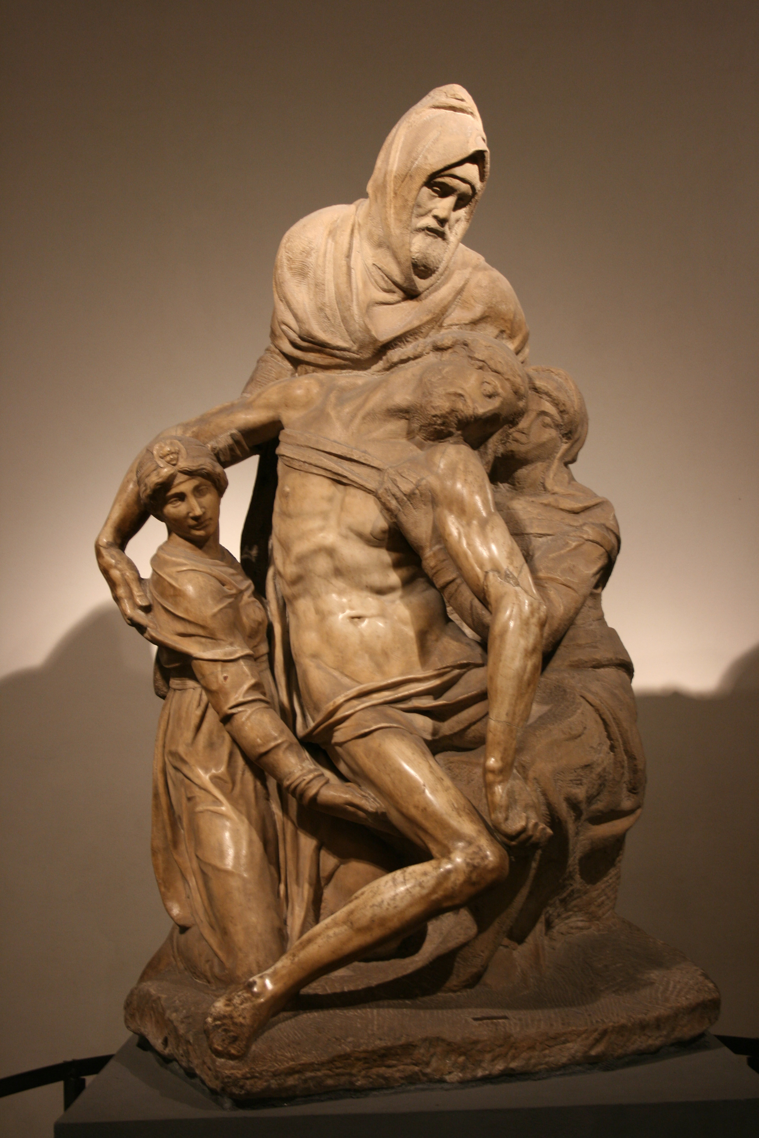 The Florentine Pieta, one of the last sculptures Michelangelo worked on as an elderly man