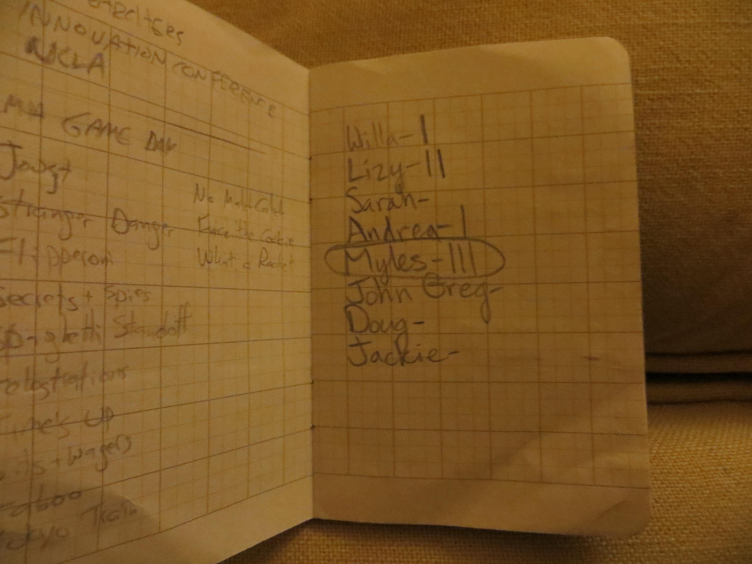 Jackie was scorekeeper in my book.