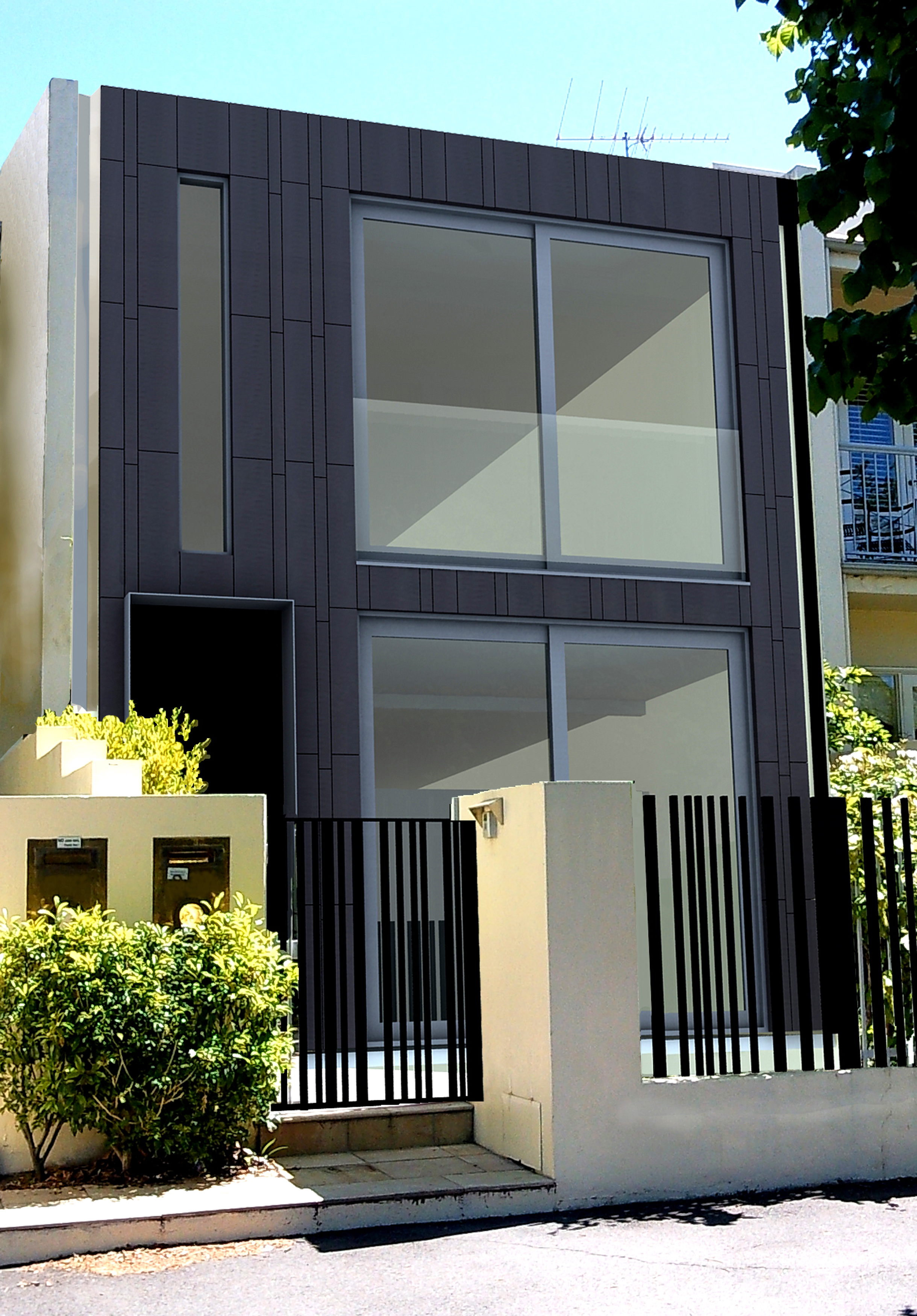 PROPOSED FRONT FACADE OF MAKEOVER RESIDENCE SOUTH MELBOURNE