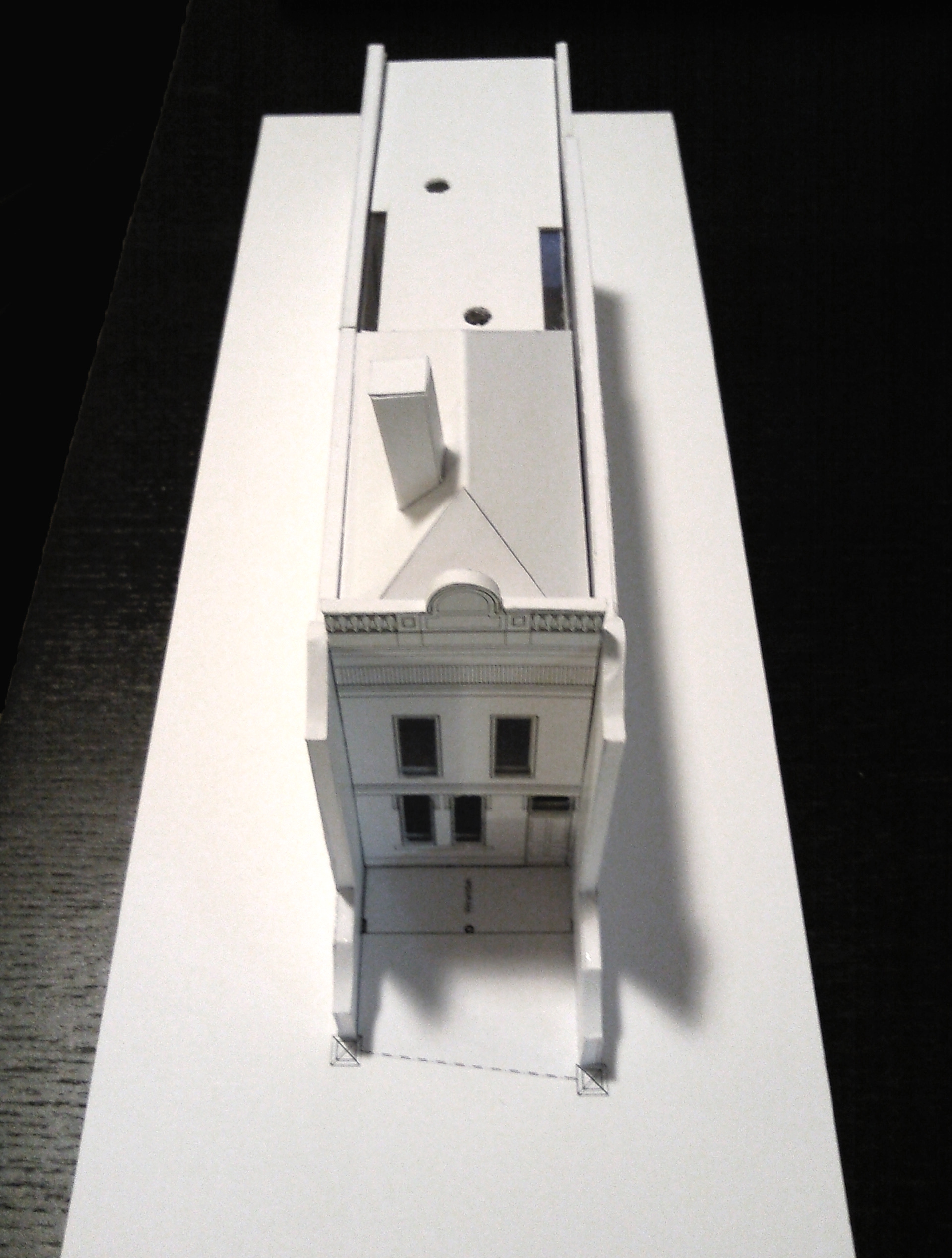 EXPERIMENTAL MAQUETTE OF RESTORATION AND EXTENSION TO A DOUBLE STOREY VICTORIAN TERRACE