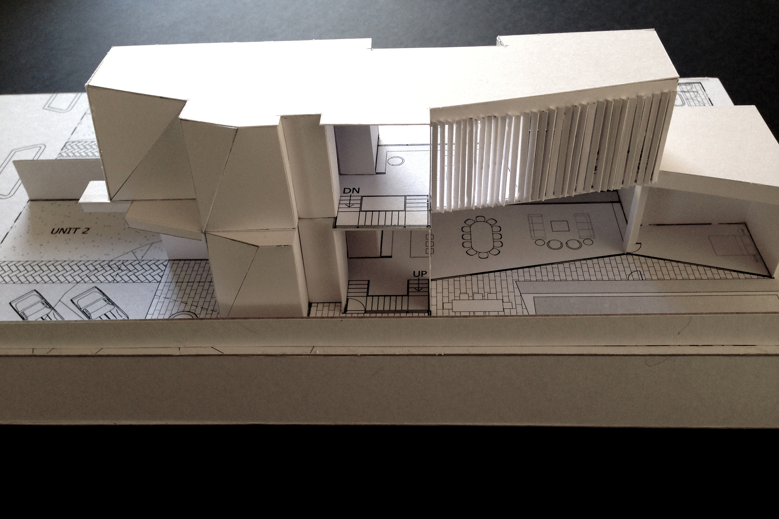 EXPERIMENTAL MAQUETTE OF TWIN RESIDENCE BALWYN MELBOURNE
