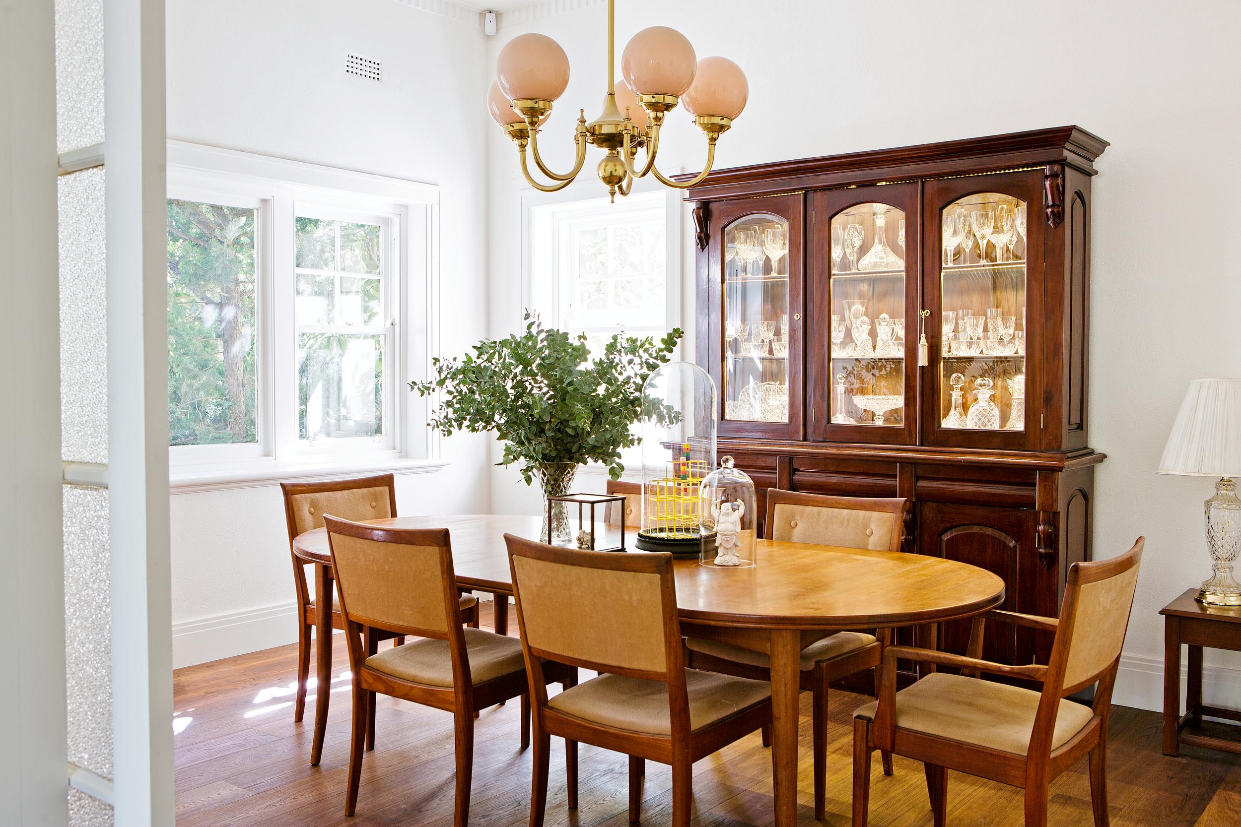 RESTORED ORIGINAL DINING ROOM