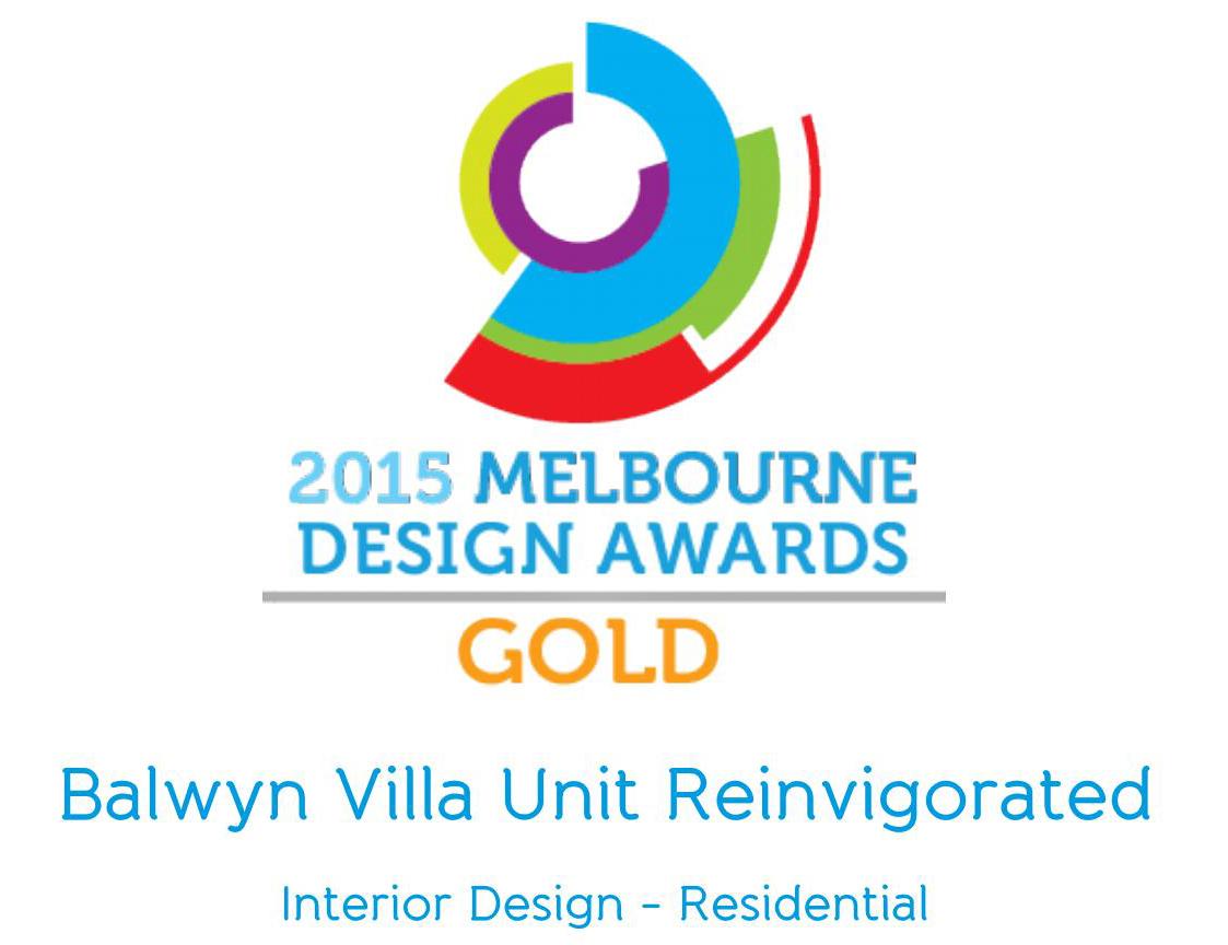 2015 MELBOURNE DESIGN AWARDS CERTIFICATE - SWG STUDIO - SANTOSO BUDIMAN - GREG ROYCE