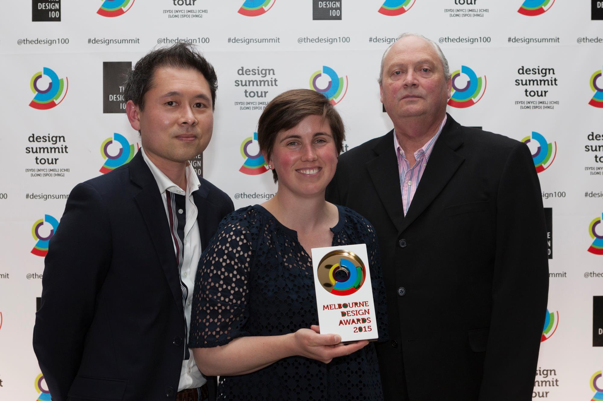 GOLD WINNER 2015 MELBOURNE DESIGN AWARDS AT RMIT DESIGN HUB MELBOURNE AUSTRALIA