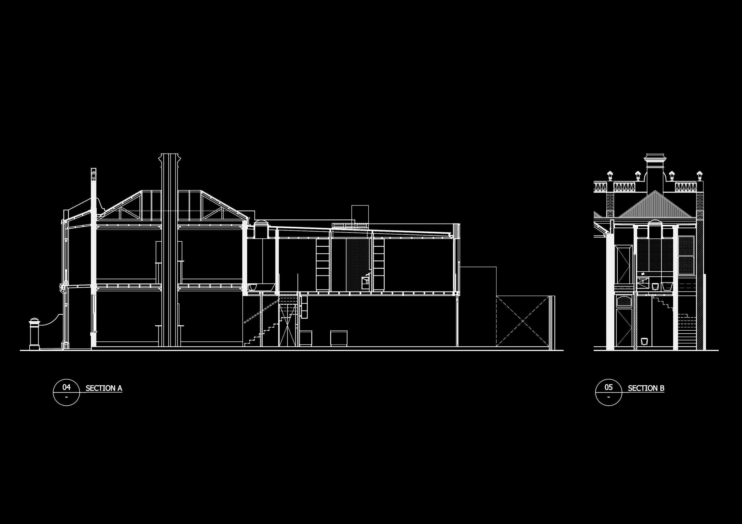 EXISTING CONDITION AND PROPOSED SECTION OF ALBERT PARK RESIDENCE IN MELBOURNE