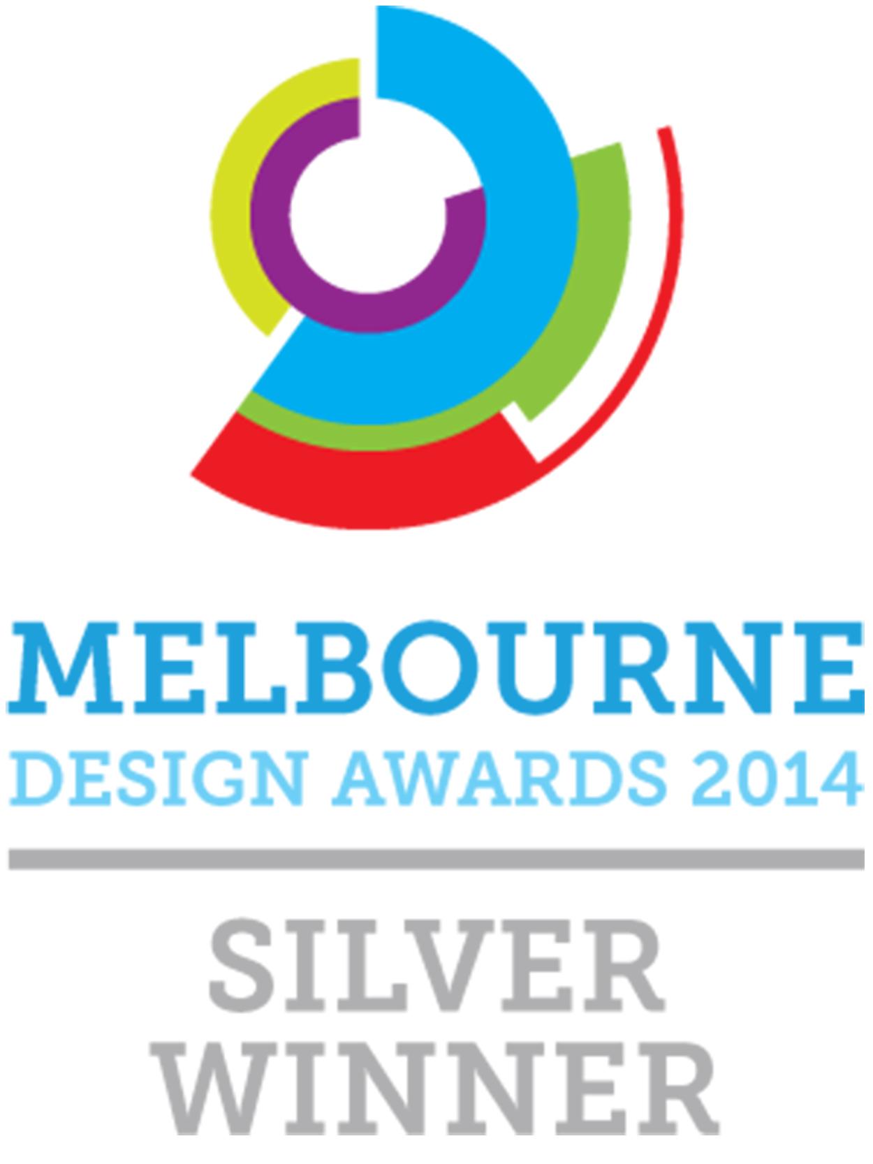 SILVER WINNER 2014 MELBOURNE DESIGN AWARDS, THURSDAY, OCTOBER 23rd, 2014.