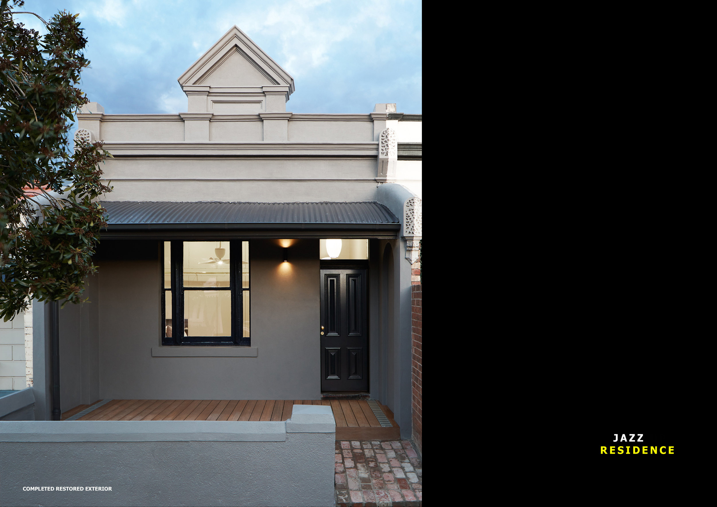 RESTORED FACADE OF EARLY 1900'S VICTORIAN COTTAGE IN BRUNSWICK MELBOURNE