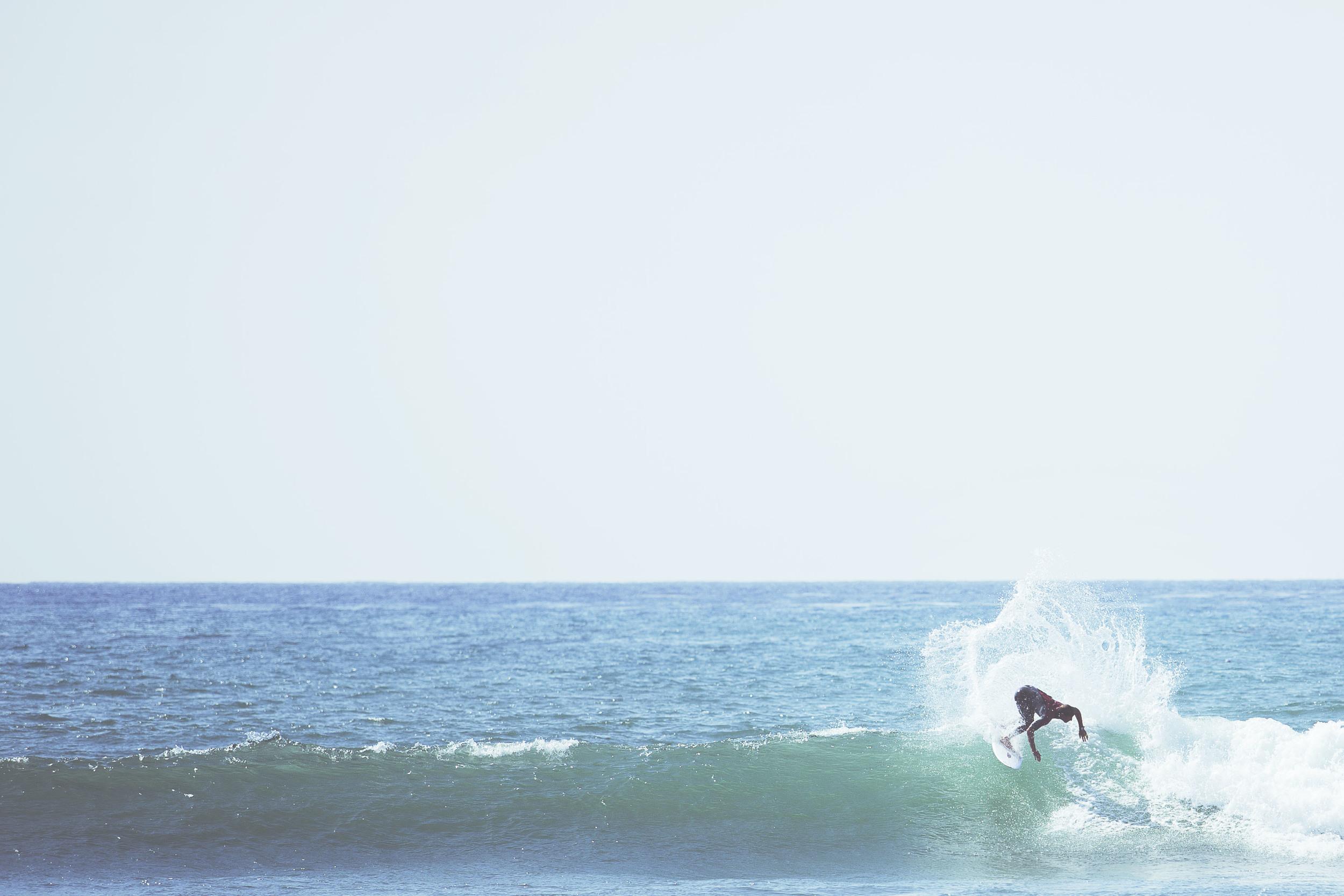 Pro surfer Ricky Schaffer