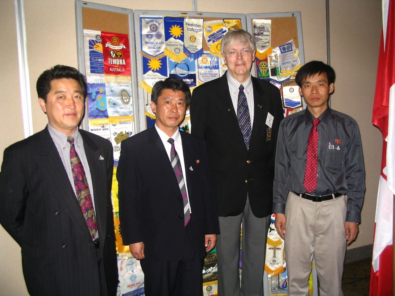 PDG Tom Wilkinson from the Charlottetown Royalty Rotary club has led and supported several of our projects in the DPRK. In this picture he welcomes Dr. Jong Sang Hun and a team of DPRK agronomists to visit Eastern Canada to explore our potato growing and harvesting expertise.