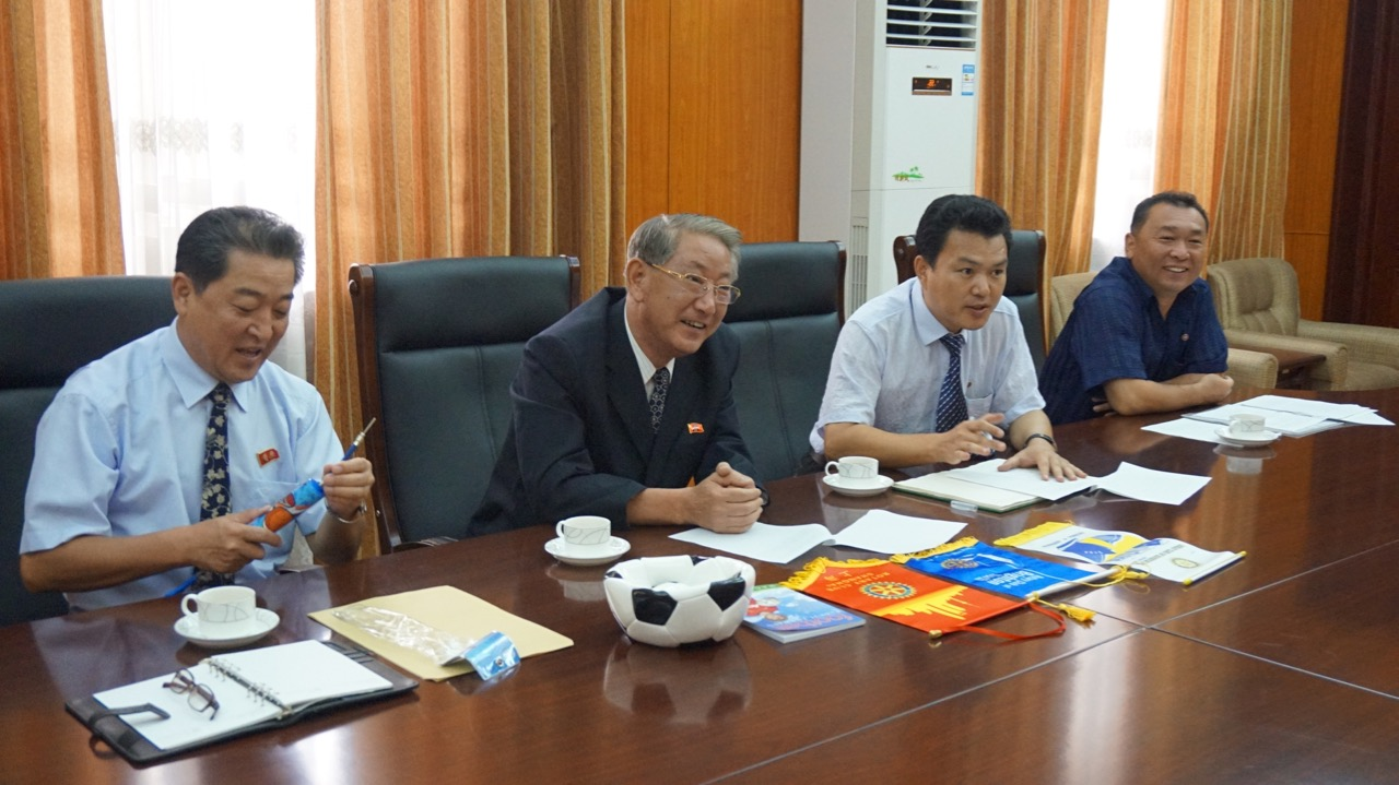 12 years later in August 2015 we paid a visit to his successor, Mr. O Tae Bong, Chairman of the Committee for the Promotion of International Trade, within the Ministry of External Economic Relations.