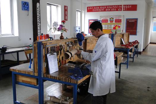 HI has facilitated a prosthetic limb facility in Hamhung, North Korea for many years.
