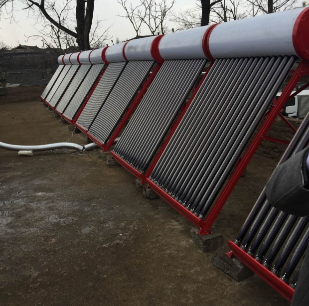 'It's a question of building trust, all of it relating to peace and building understanding,' says rotarian Tom Wilkinson of the club's philanthropic work in North Korea including this solar water heater. (Submitted by Tom Wilkinson)