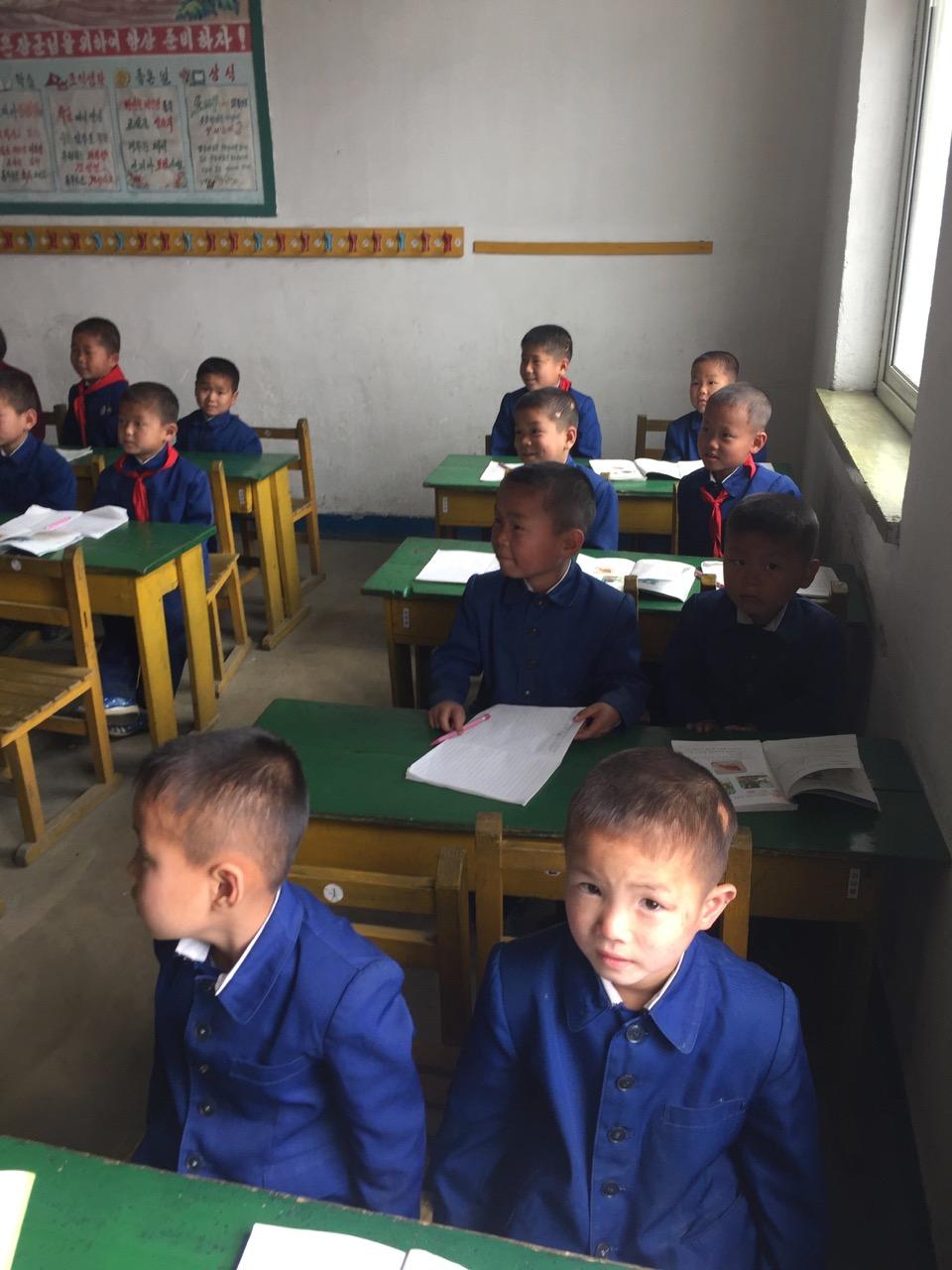 Classroom in the Haeju School