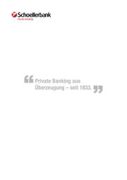 Imagebroschüre Schoellerbank
