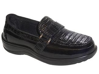 Chelsea Croc by OrthoFeet Black   Sizes: 5-12 (N, M, W, XW)