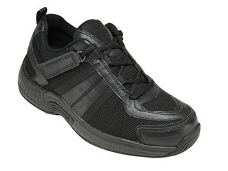 Monterey Bay Shoe by OrthoFeet Black   Sizes: 7-15 (N, M, W, XW, XXW)