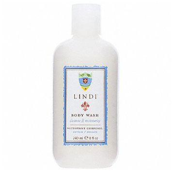 Body Wash by Lindi Skin  A delicately moisturizing, non-foaming body wash.  Moisturize while you cleanse, with this luscious body wash from Lindi Skin. The unique, non-foaming formula is gentle on the skin, adds moisture while you wash