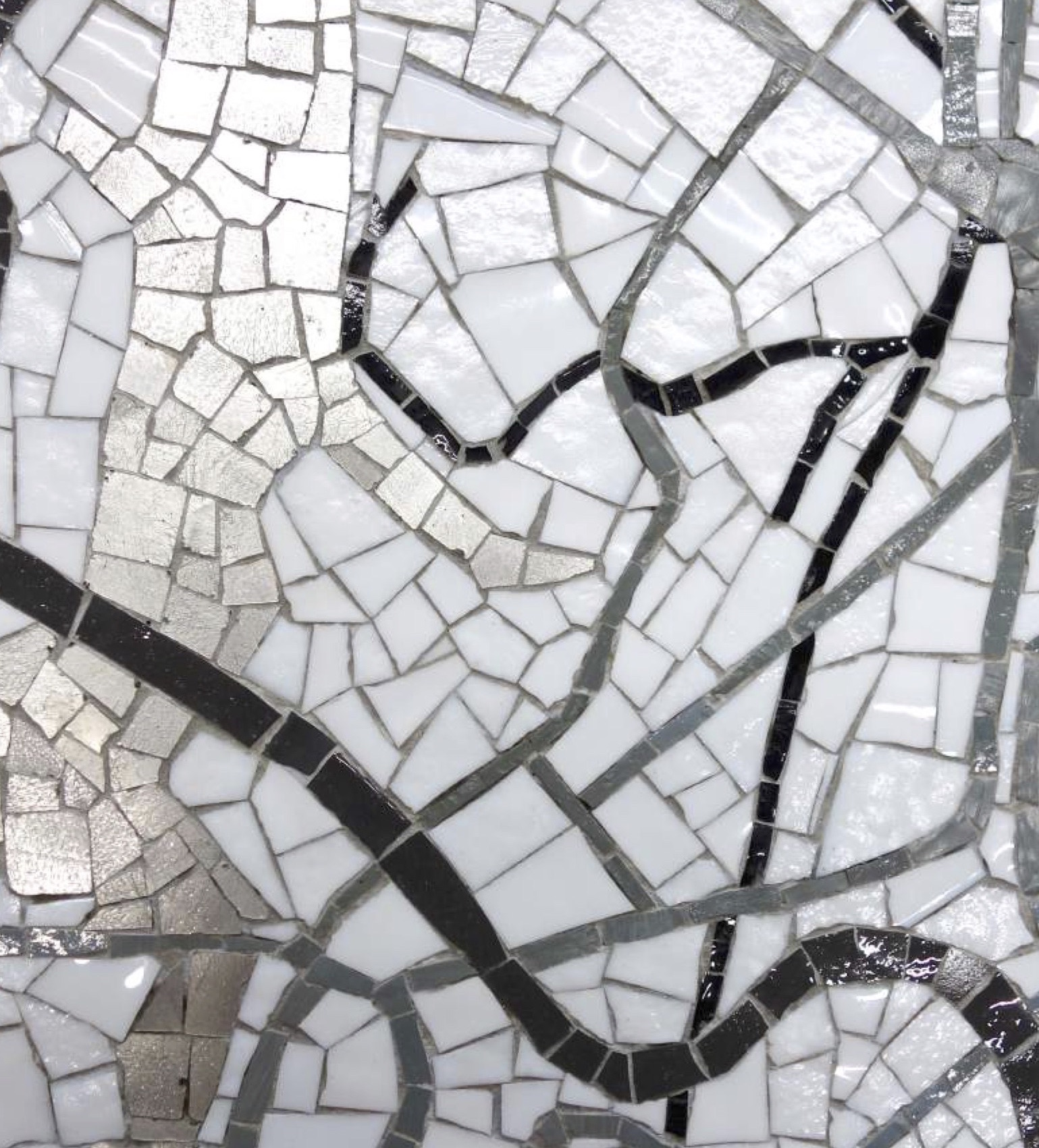 The map will be brought to life with a hand crafted array of iridescent glass mosaic tiles.