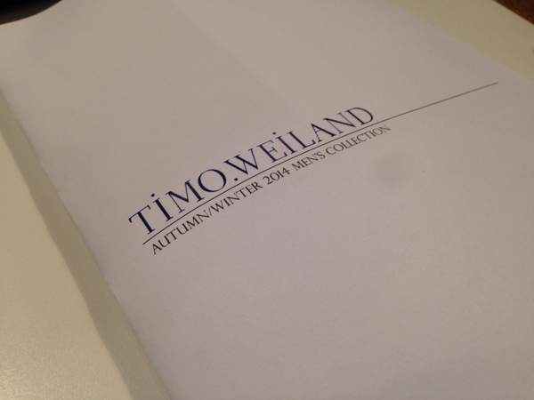 TIMO WEILAND Lookbook Design & Layout