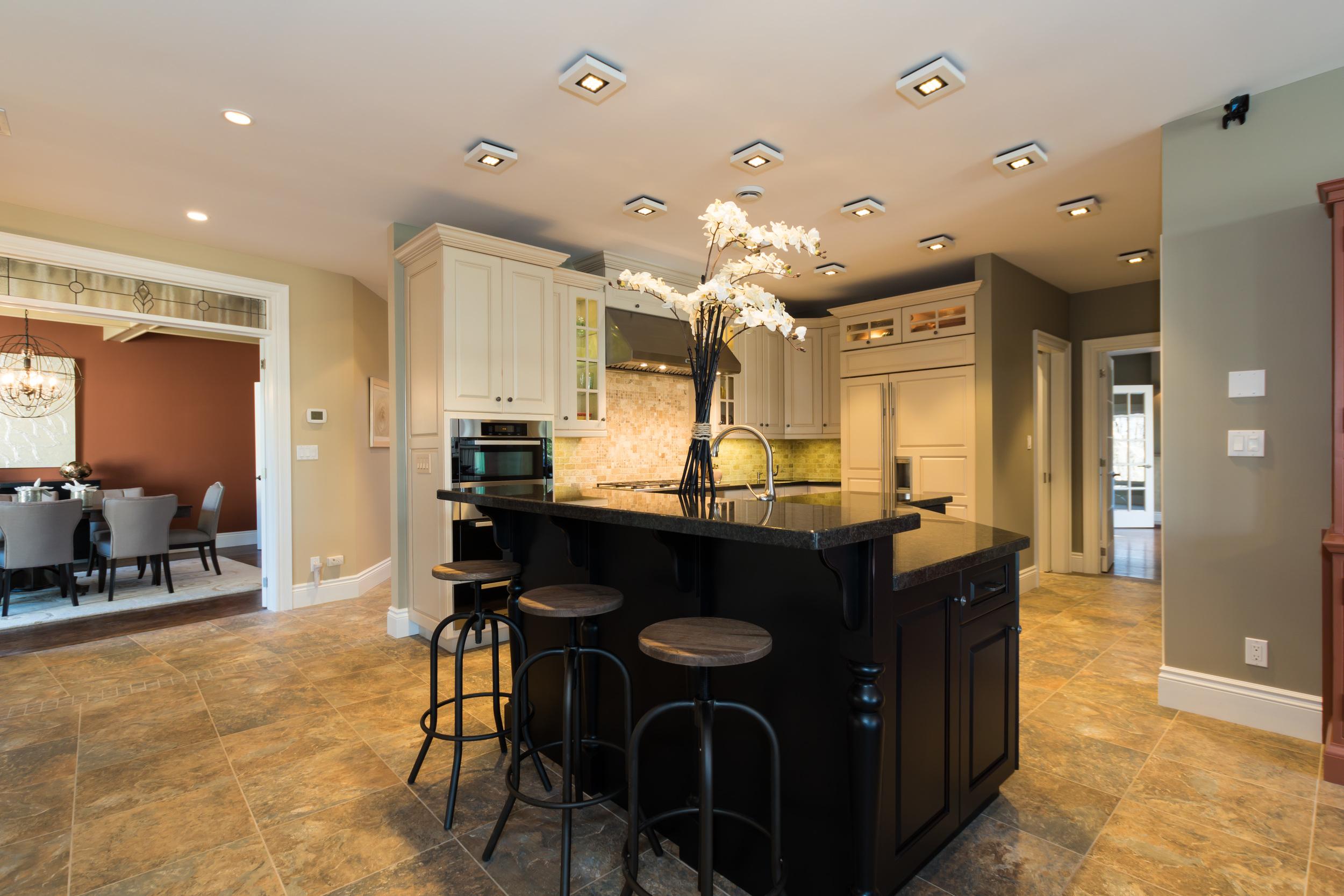 Modern, open concept kitchen