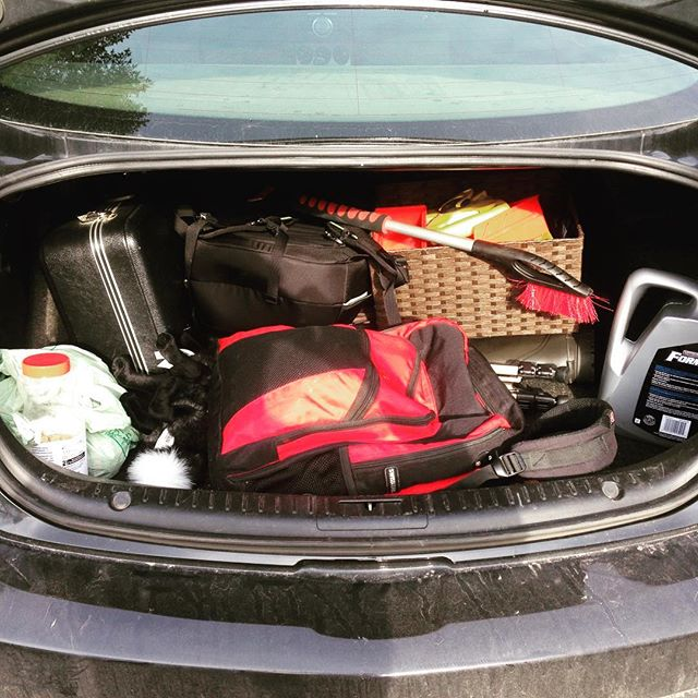 Car loaded with #filmgear #documentaryphotography #documentary #filmset #trip