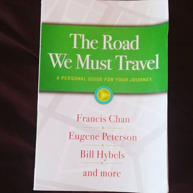 "Today we at THA are reading ""The Road We Must Travel, a personal guide for your journey""  #bookstagram #books #FrancisChan #EugenePeterson #BillHybels"