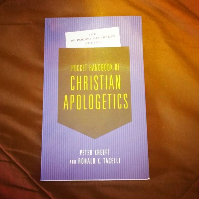 "Today we at THA are reading ""Pocket Handbook of Christian Apologetics"" #bookstagram #books #ivp #intervarsitypress"