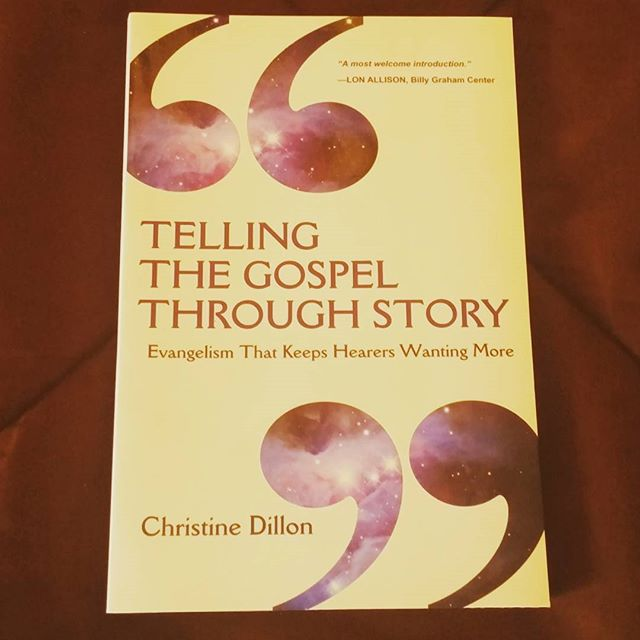 "Today we at THA are reading ""Telling The Gospel Through Story"" by Christine Dillon. #bookstagram #books #thegospel"