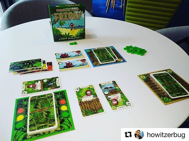 It seems like an appropriate day to post about this game. #Repost @howitzerbug (@get_repost) ・・・ Helping Robinson Crusoe escape the island! #Friday #boardgames #Lunchtime #thisdudeissostupidhewonteversurvive