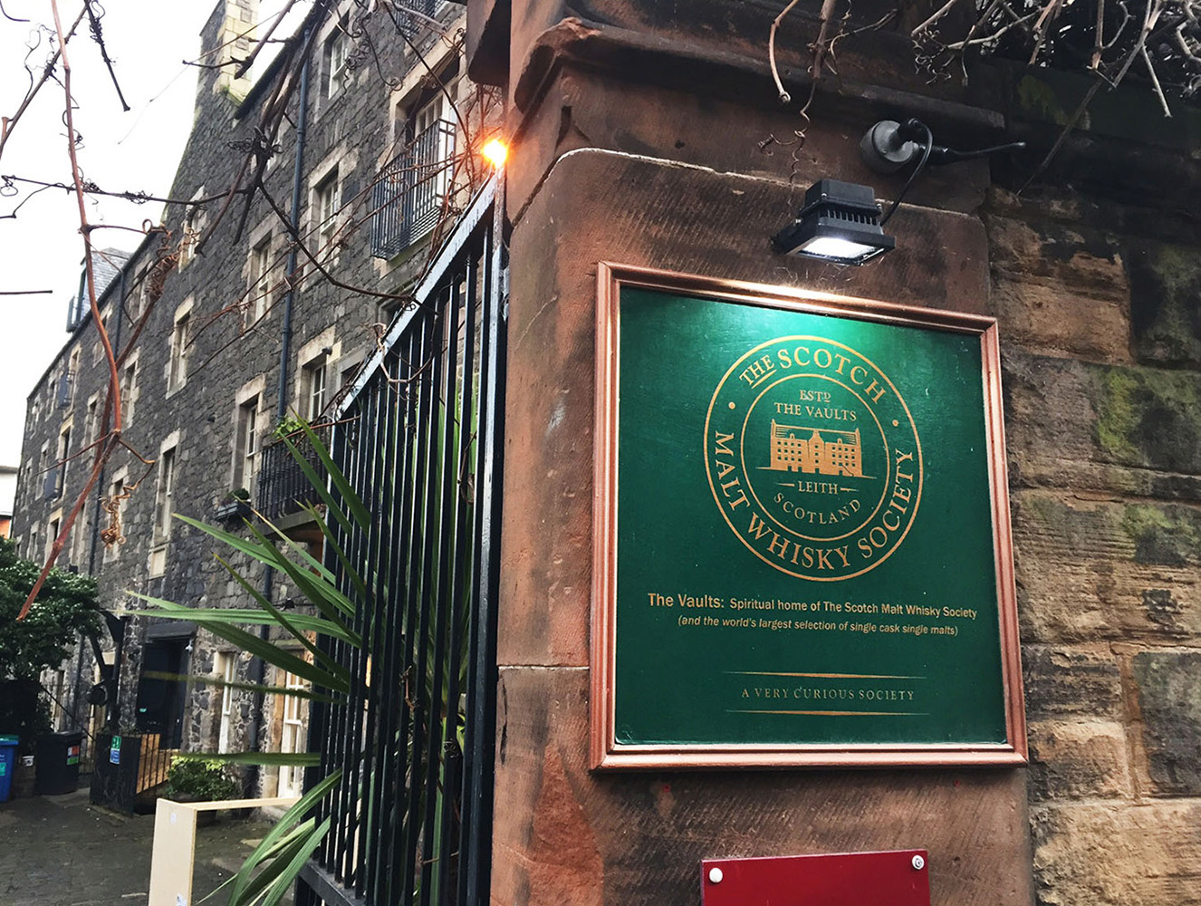 Edinburgh's Whisky District - The European wine industry was ravaged by a vine weevil called phylloxera, recently imported from the USA. Wine and brandy production crashed as producers fought to cure their vines of this pest. Whisky makers moved in to fill the void and the warehouses of Leith were soon filled with barrels of ageing spirit.'The Vaults' in Leith, home to the wonderful Scotch Malt Whisky Society, was originally a wine warehouse dating back to the 18th century.