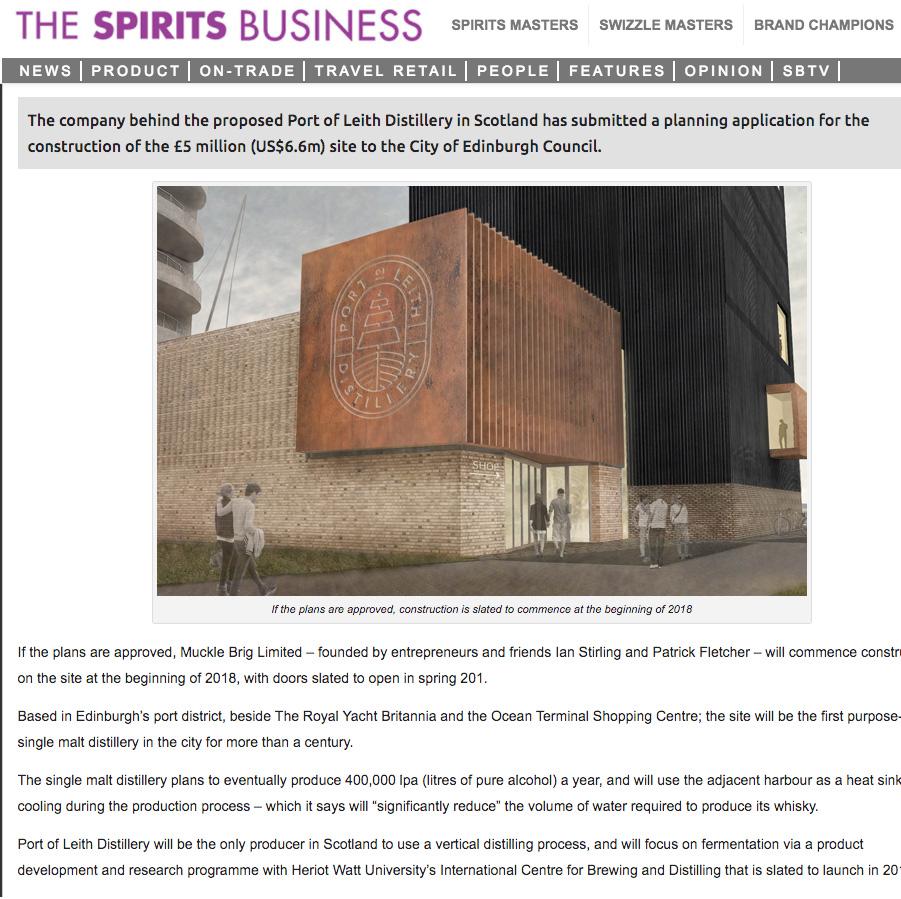 THE SPIRITS BUSINESS - 29/09/17 - NEWS