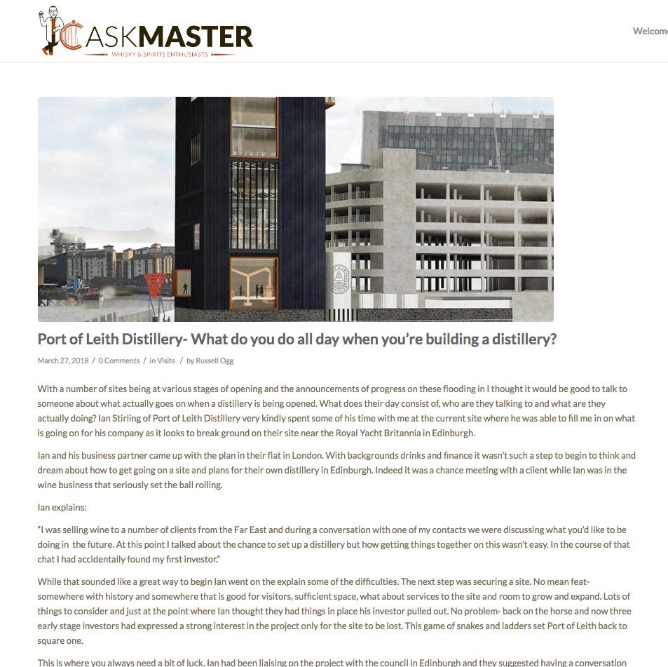 CASKMASTER - 27/03/18 - INTERVIEW