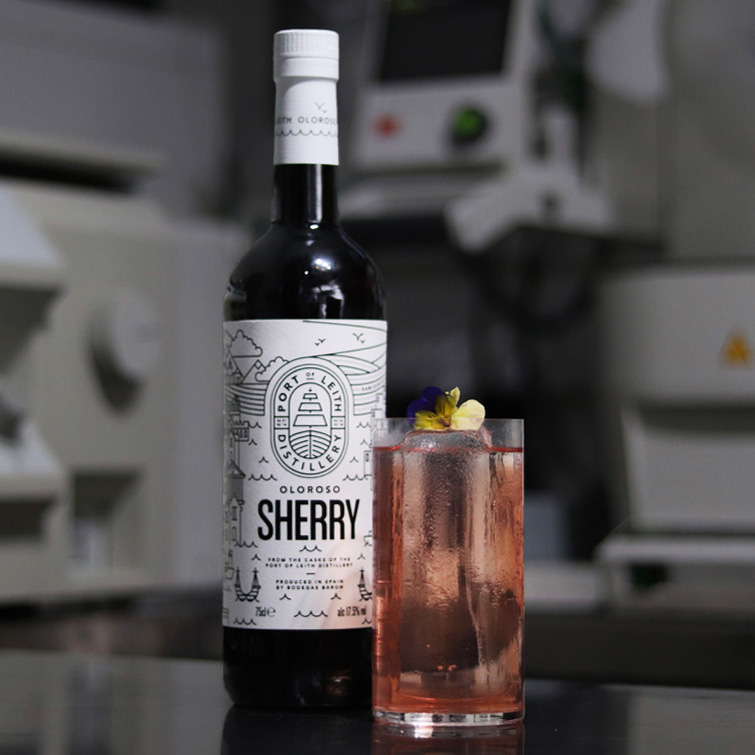 Sherry & Tonic - The Sherry & Tonic is deliciously refreshing, with a beguiling sweet walnut finish.30ml Port of Leith Oloroso15ml Cocchi Americano15ml Plum Sake10 Drops Fee Brothers Plum Bitters40ml Fever Tree Tonic Water