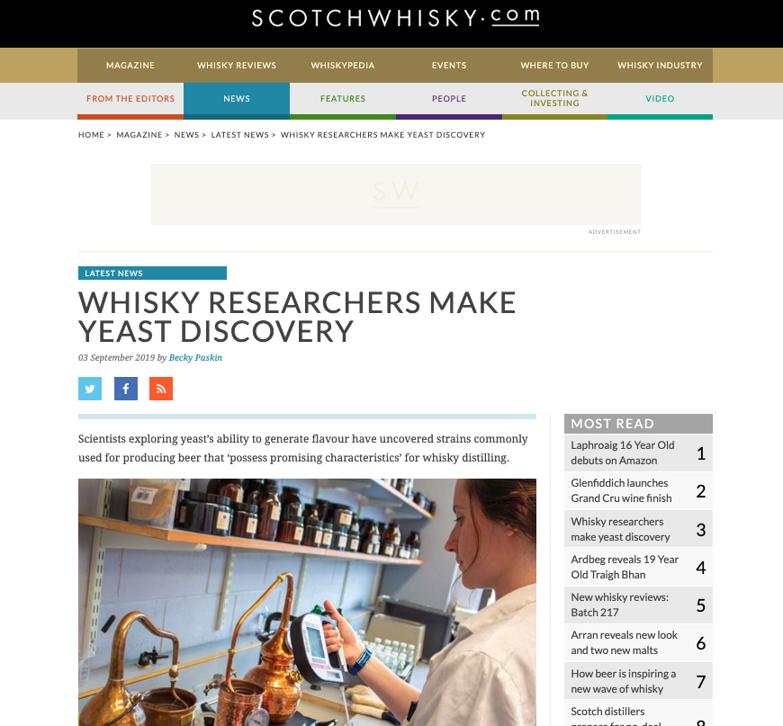 SCOTCHWHISKY.COM - 03/09/19 - NEWS