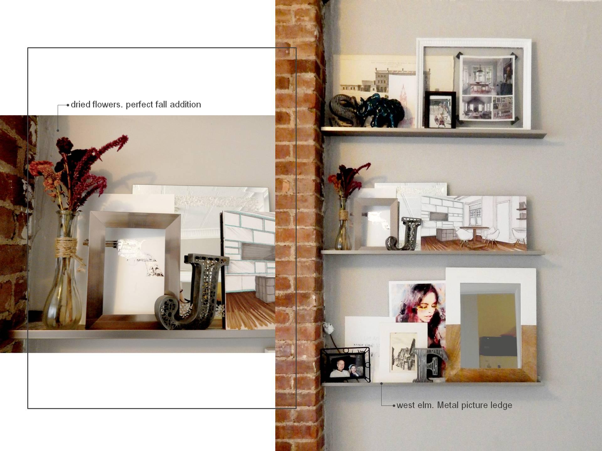 apartment pieces. living room shelves. color me quirky