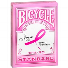 Bicycle The Breast Cancer Research Foundation Standard Playing Cards // $3