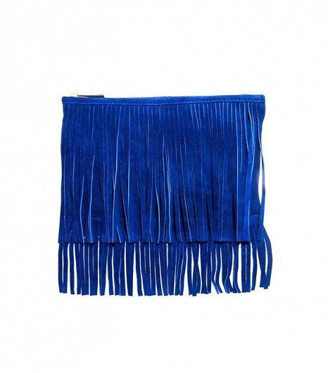 ASOS //  Suede Fringe Clutch Bag