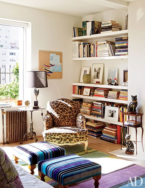 Isaac Mizrahi's NYC home on color. me. quirky.