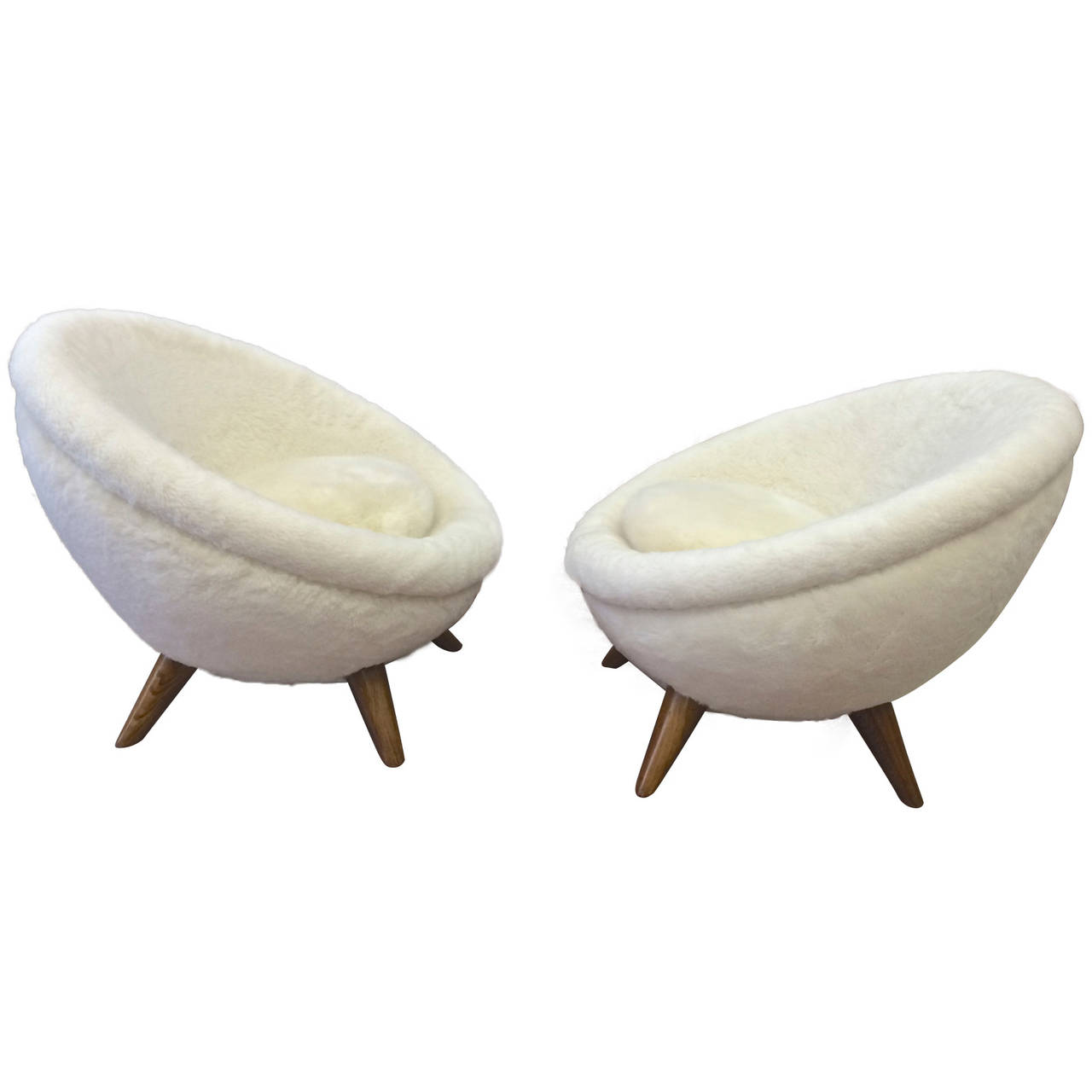 pair of chairs by jean royere