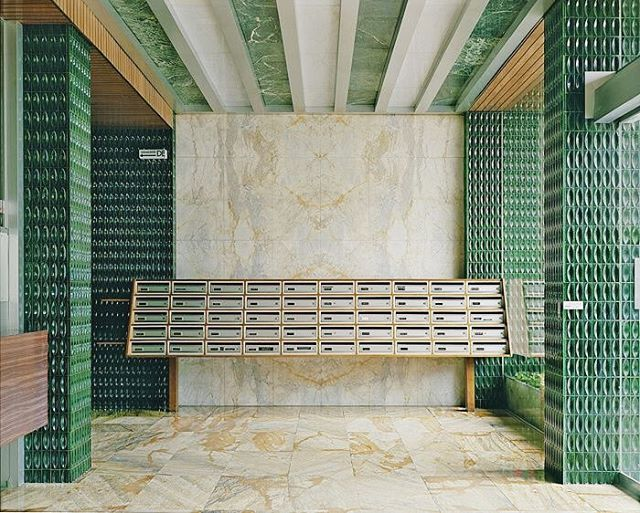 Entrance lobby of La Barre Saint-Just apartment building by Georges Maillols | co. @ad_magazine