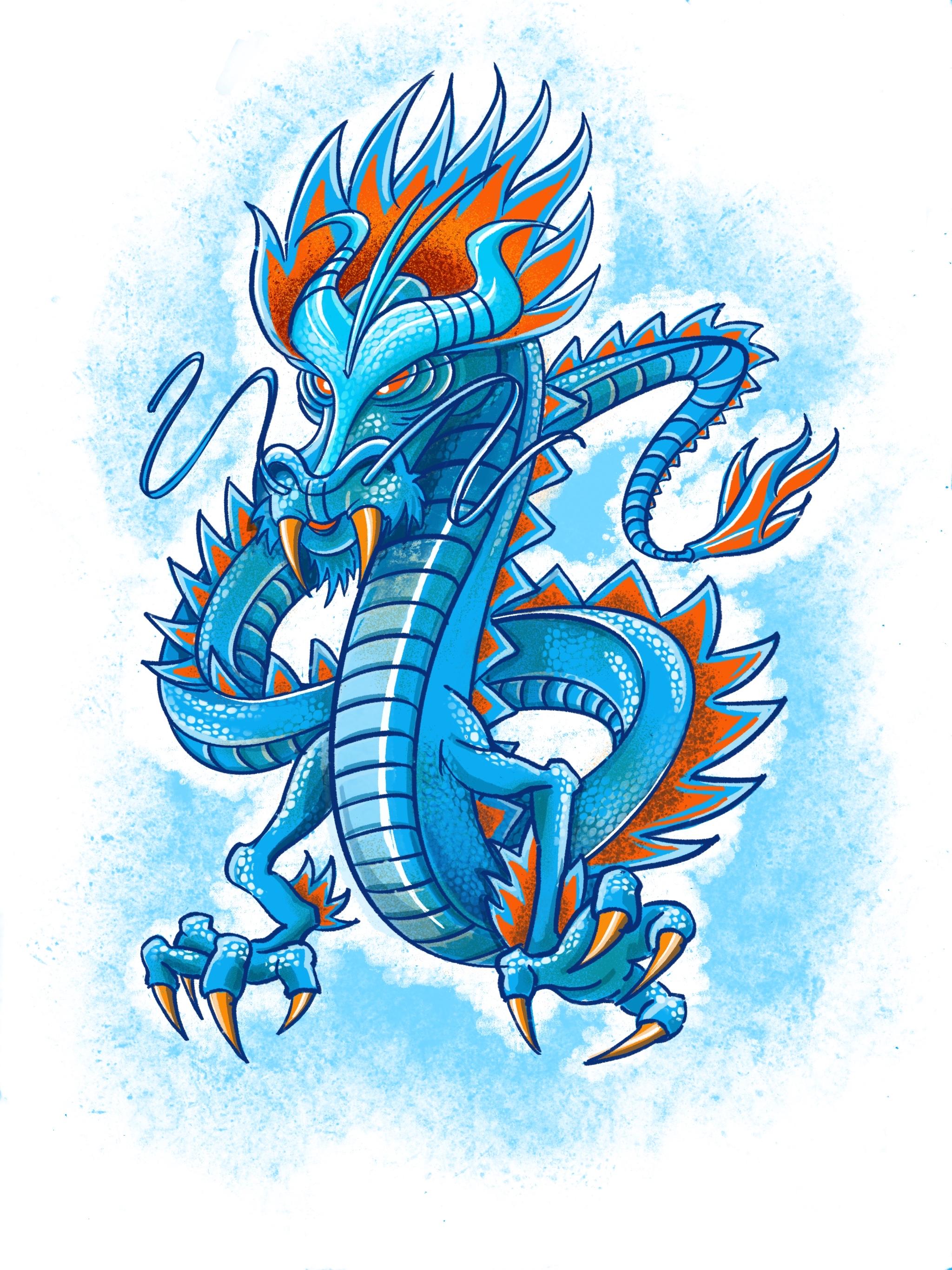 Crisloid Blue Soap Dragon