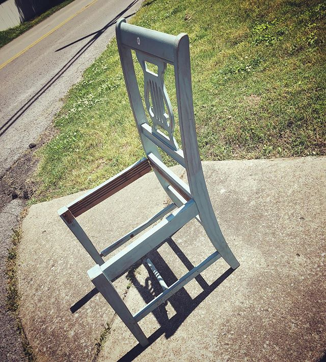 Down the street from my house. #chair