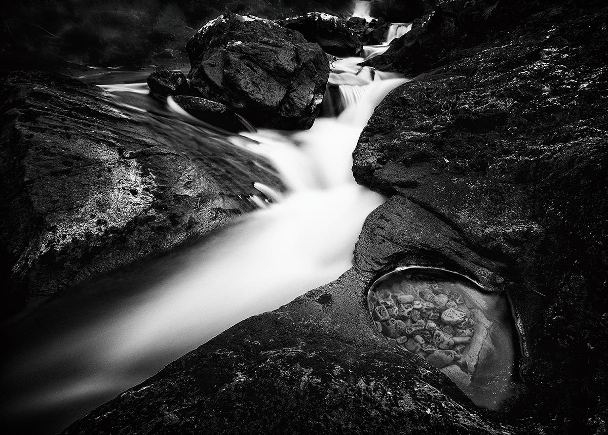 Waterfall.Claim & rushing waters.