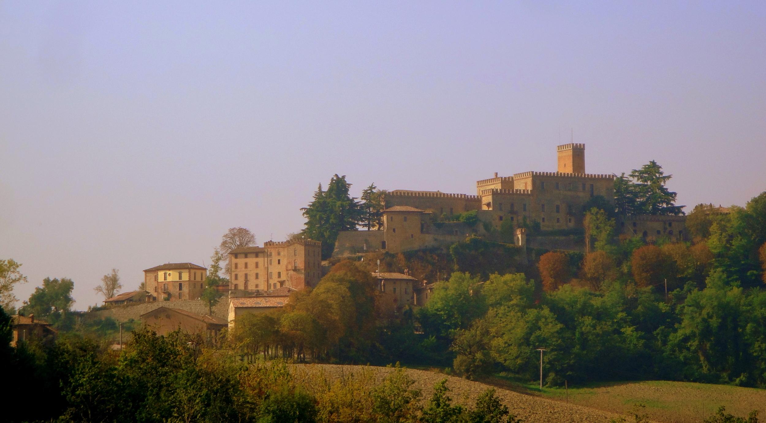 Our hilltop castle in Parma